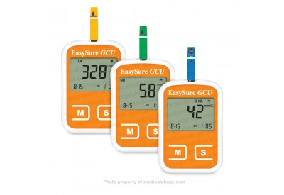 EasySure GCU Blood Glucose, Cholesterol and Uric Acid 3-in-1 Monitoring System