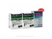 ONETOUCH SELECTSIMPLE STRIPS 50's FREE ULTRA LANCETS 25's