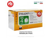 PIC Solution (Insupen) Insulin Pen Needles 4MM x 32G